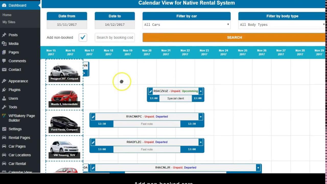 Theme documentation - WP Car Rental