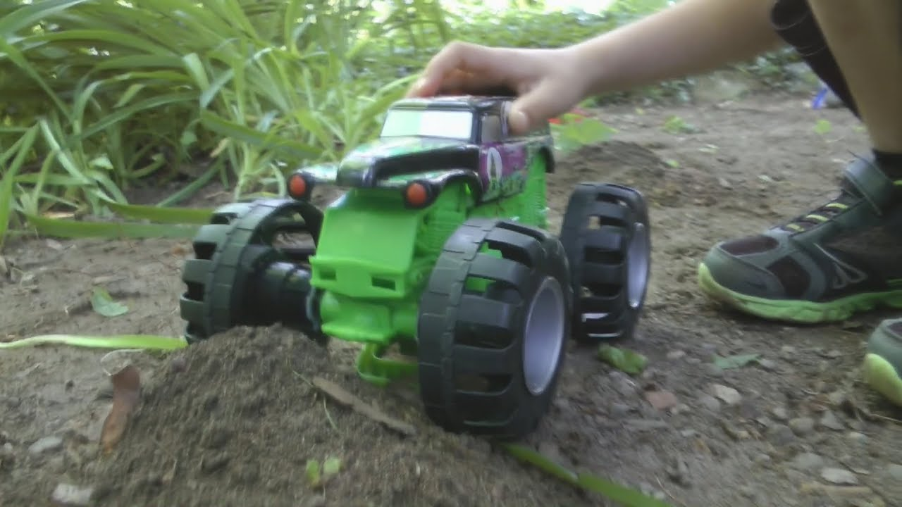 Green Monster Truck Toy : Big green monster truck toy cars for kids action fun