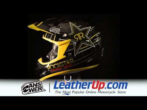 Answer Racing Comet Rockstar V Black Helmet at LeatherUp.com