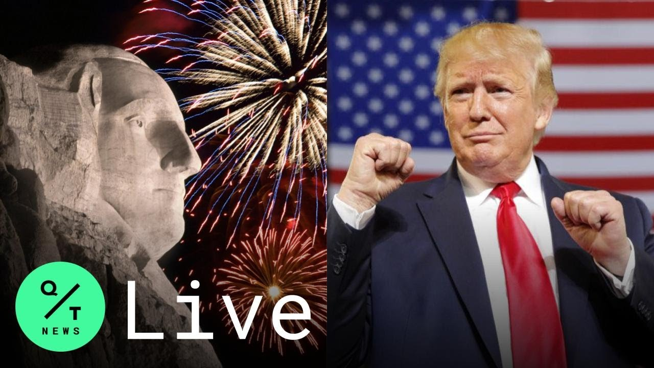Of course Donald Trump wants fireworks over Mount Rushmore ...