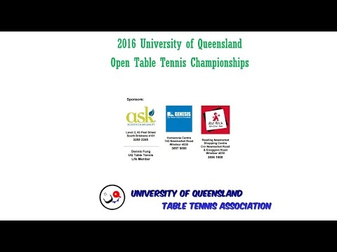 2016 UQ Table Tennis Open - Live Stream 16-17 July 2016 - Day1-Video2