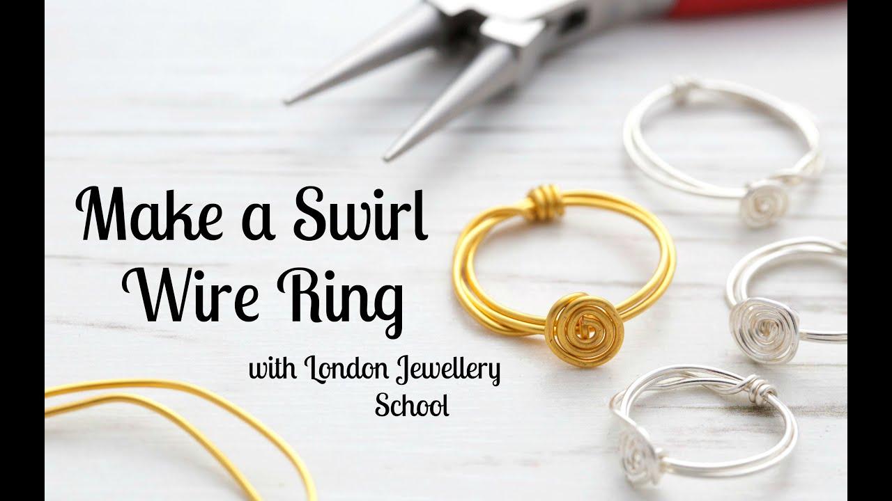 Make a Swirl Wire Ring - Jewelry Tutorial - YouTube