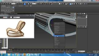 Tutorial on Modeling a rocking chair in 3dsmax.