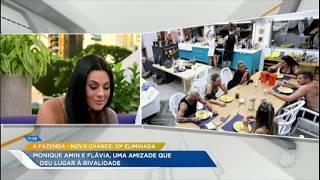 Monique fala sobre rivalidade com Flávia em A Fazenda - Nova Chance