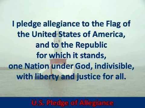 U.S. Pledge of Allegiance - Hear and Read the Full Text