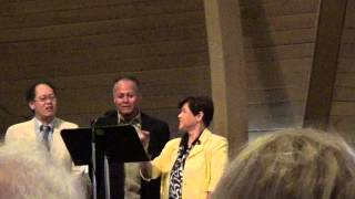 Dad (Neal McCoy) singing with his brother & sister on Easter Sunday