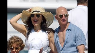 Jeff Bezos and glamorous girlfriend Lauren Sanchez in Saint Tropez