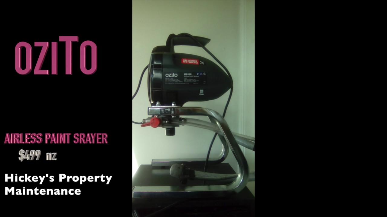 Airless Paint Spray Gun Reviews Part - 48: OziTo Airless Paint Sprayer Review.