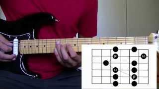 Cours de Guitare : Pentatonique mineure position 3 - Impro solo blues rock