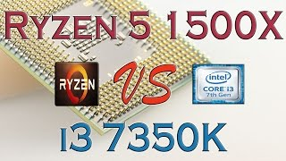 ryzen 5 1500x vs i3 7350k benchmarks gaming tests review and comparison ryzen vs kaby lake
