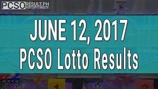Lotto Result June 12, 2017 (6/55, 6/45, 4D, Swertres & EZ2)