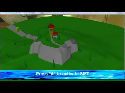 Augmented Reality 3D Game using Wiimote [C++, ARToolkit, SIFT, Collision Detection, OpenGL]