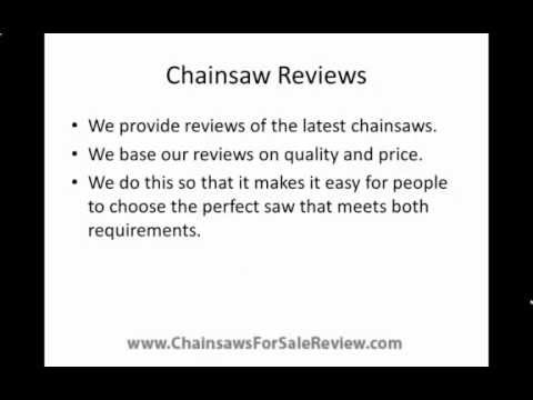 Chainsaws For Sale - Provide the cheapest prices with the best chainsaw reviews
