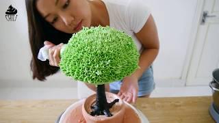 bonsai cake decorate tutorial