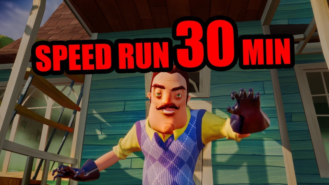Hello Neighbor Full Game Speedrun 30 Minutes Youtube