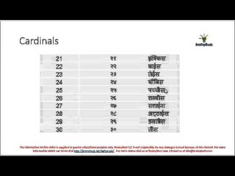 Hindi Numbers 21 to 30 - YouTube