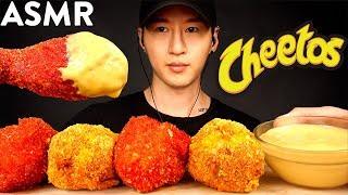 ASMR CHEESY HOT CHEETOS FRIED CHICKEN MUKBANG (No Talking) COOKING &amp EATING SOUNDS  Zach Choi ASMR