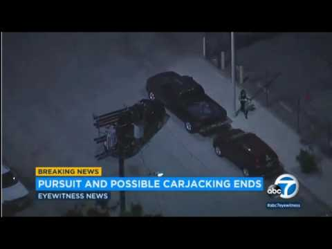 SAN FERNANDO VALLEY SEES WILD NIGHT OF 3 POLICE CHASES