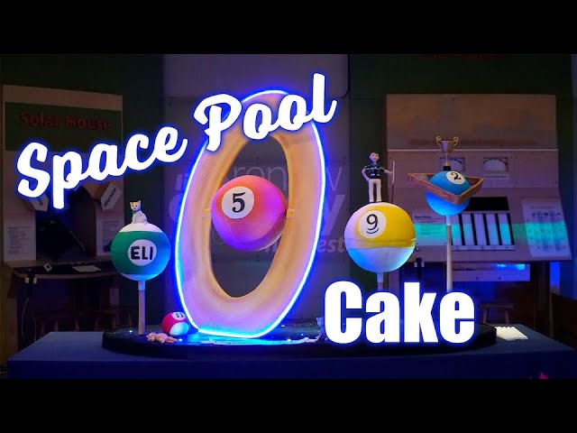 Decorating a HUGE Light-up Space Billiards/Pool Cake!