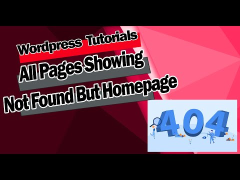 All Pages Showing Page Not Found Error Except Homepage - Wordpress