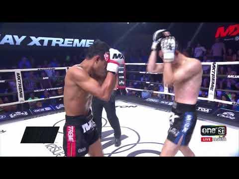 ย้อนหลัง เด่น ศศิประภายิม vs ชินโนซูเกะ นากามูระ : Mx Muay Xtreme Highlight ยกที่ 1 : 18 ส.ค. 60