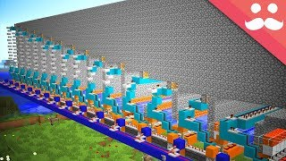 Minecraft.. But With Pistons that CAN PUSH 1000 BLOCKS!