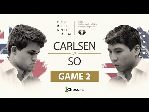 Wesley So vs. Magnus Carlsen: Fischer Random Chess Championship 2019: Game 2