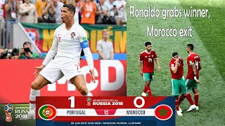 Ronaldo grabs winner, Morocco exit | FIFA WORLD CUP 2018 LIVE NEWS