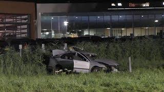 Auto ramt LPG-vulpunt in Gorinchem; groot gaslek ontstaan
