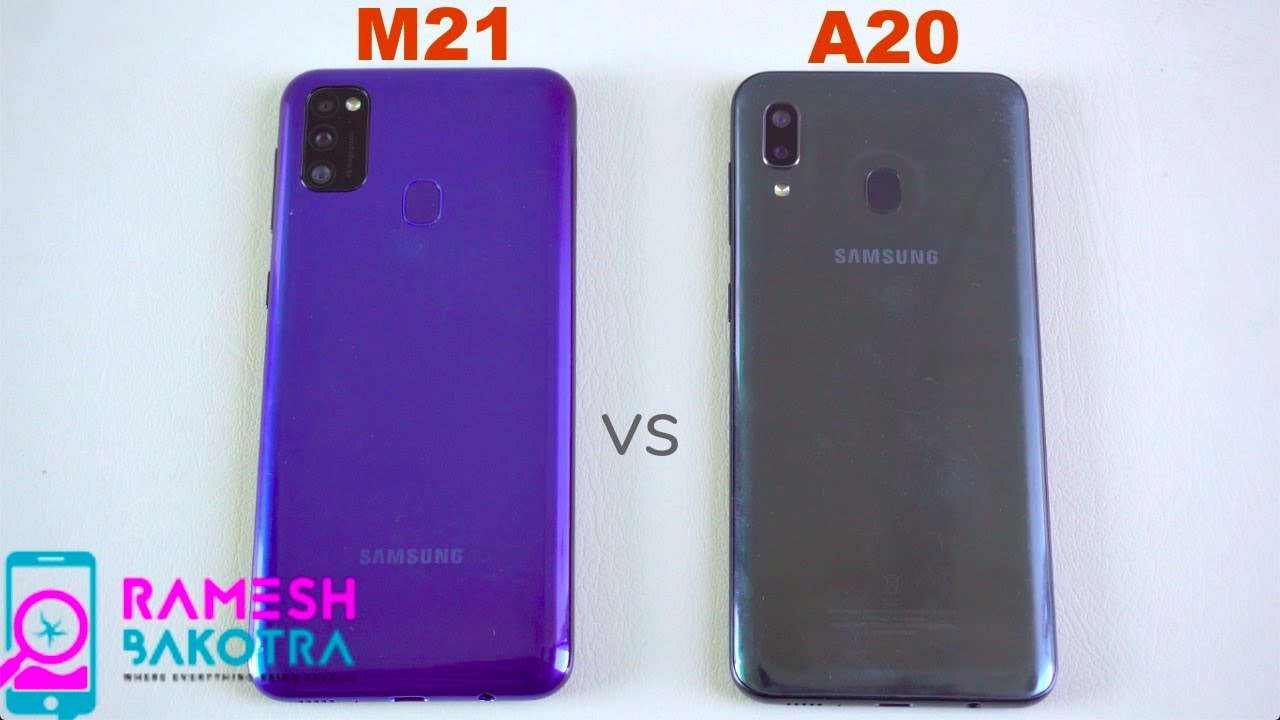 Samsung Galaxy M21 vs Galaxy A20 SpeedTest and Camera Comparison