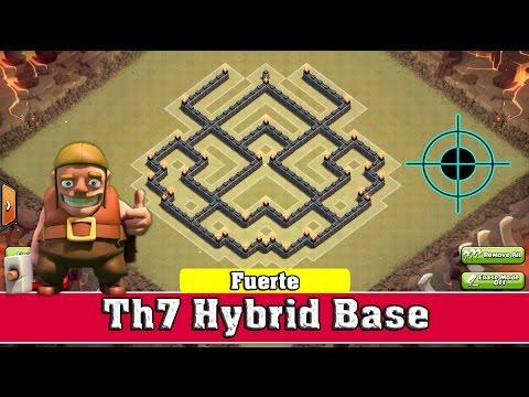 Th7 Hybrid Base (Fuerte) || Clash of Clans [2015] - YouTube