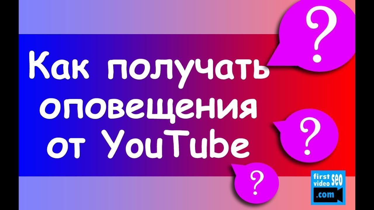 Оповещения на YouTube. Как подписчикам получать уведомления на YouTube?
