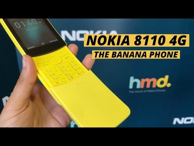 MWC 2018: Nokia 8110 4G Reloaded, The Banana Phone Is Back In 2018