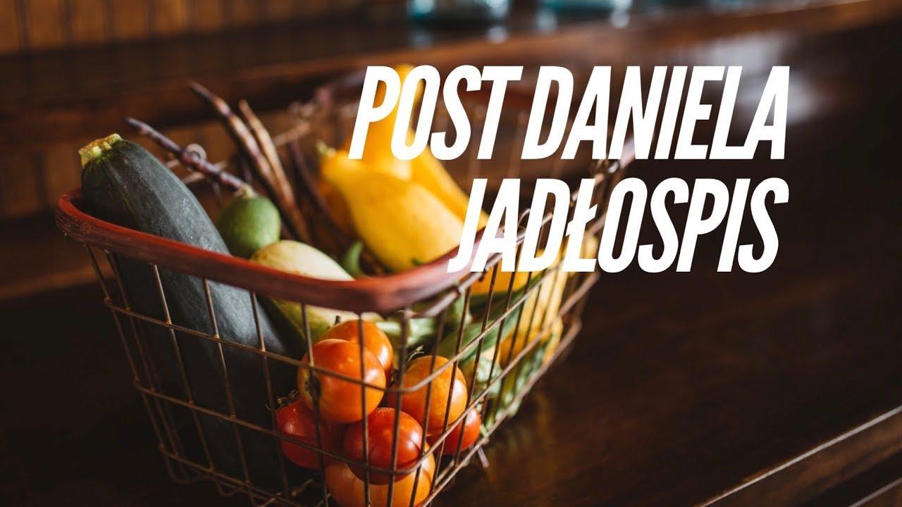Post Daniela – jadłospis