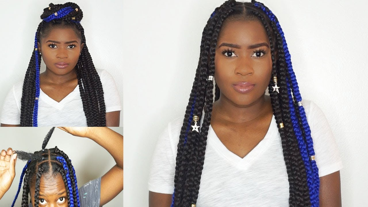How To Do Large Box Braids On Short 4c Natural Hair