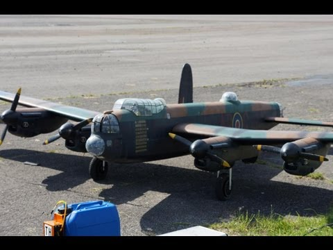 Lancaster Bomber rc plane Largest ever Possibly!  showing amazing scale flying