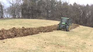 Plowing with John Deere 6400