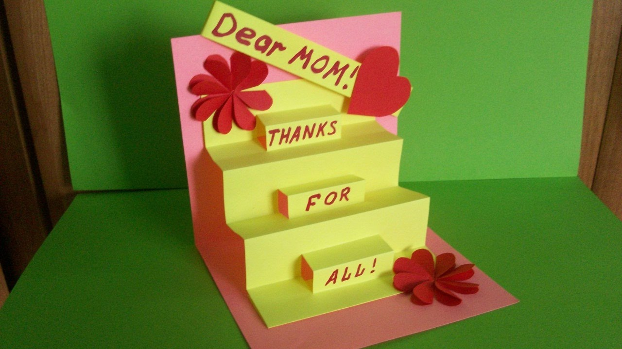 How to make a greeting pop up card for mom birthday mothers day how to make a greeting pop up card for mom birthday mothers day handmade gifts and ideas m4hsunfo
