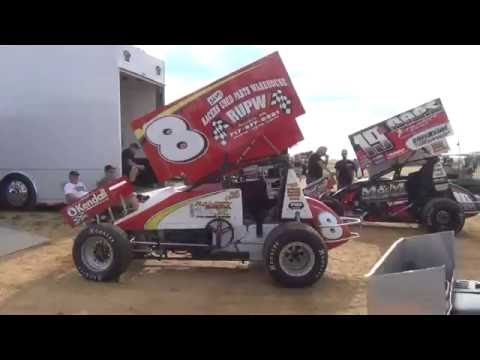Trail-Way Speedway 410 Sprint Car Highlights 7-10-16