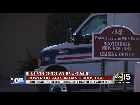 Power outage forces evacuation of Scottsdale retirement community