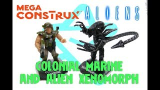 MEGA CONSTRUX HEROES ALIEN XENOMORPH AND COLONIAL MARINE REVIEW
