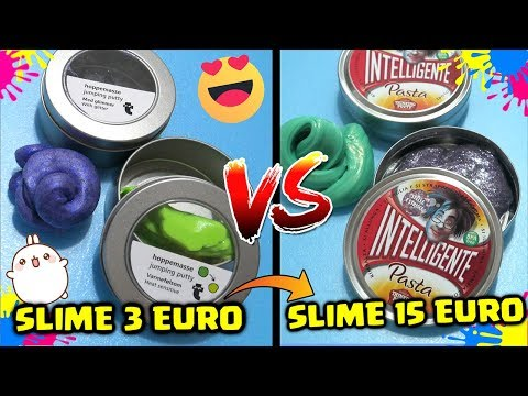 SLIME da 3 EURO VS SLIME da 15 EURO! DIFFERENZE! Pasta Intelligente Vs Pasta Tiger! By FrancyDreams