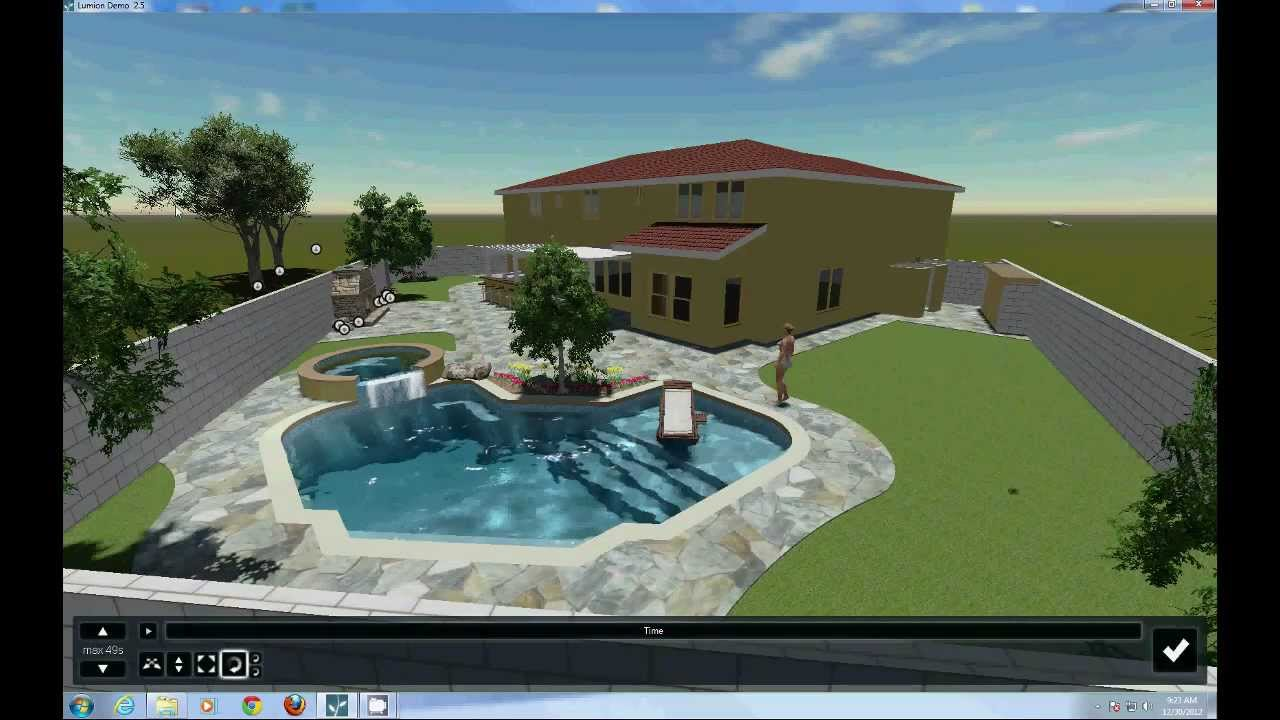 The Swimming Pool Project With Lumion Animation Software Tutorial 1 Youtube