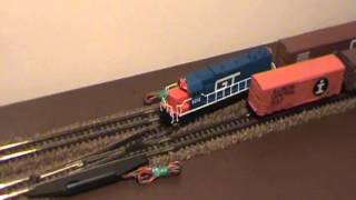 Small N Scale Test Track Grand Trunk Western Railroad GTW