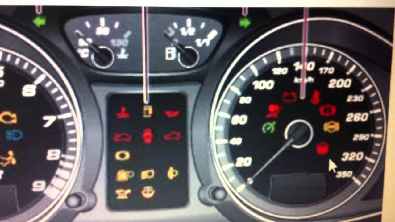 Audi R8 Dashboard Warning Lights & Symbols - What They Mean - YouTube