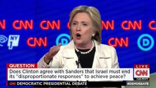 Hillary Clinton and Bernie Sanders have extended debate exchange over differences on Israel