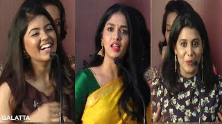 3 Beautiful Heroines Speech@Kaali Press Meet | Sunaina | Amritha | Shilpa | Vijay Antony