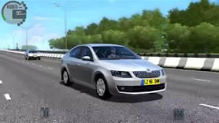 City Car Driving-Skoda Octavia-Fast Drive-Logitech momo