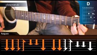 "Cómo tocar ""De Música Ligera"" de Soda Stereo en Guitarra (HD) Tutorial Rasgueo - Christianvib"