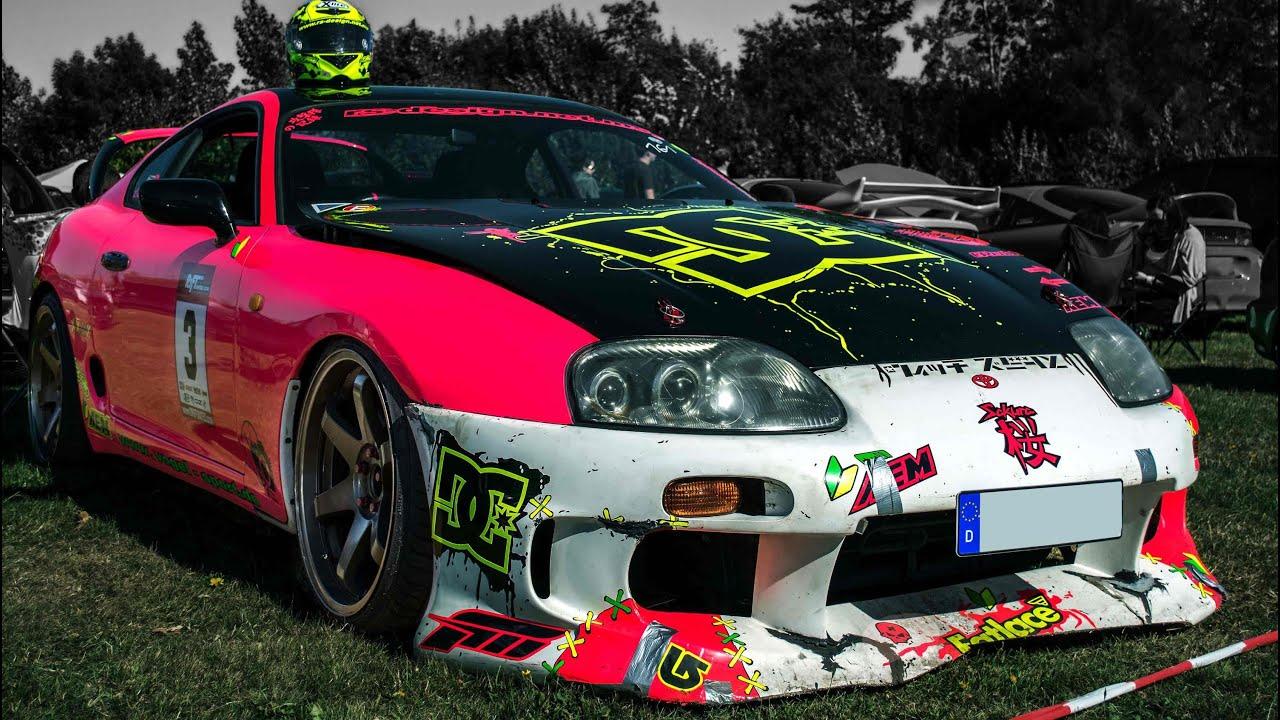 Pink Toyota Supra Drifting At Drift Show Triptis Quot Rims